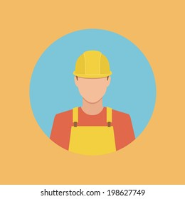 worker flat style web icon