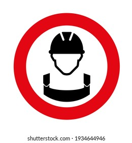 worker icon on white background