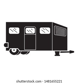 Worker motorhome icon. Simple illustration of worker motorhome vector icon for web design isolated on white background