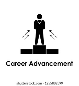 worker, stand, career advancement icon. One of business collection icons for websites, web design, mobile app