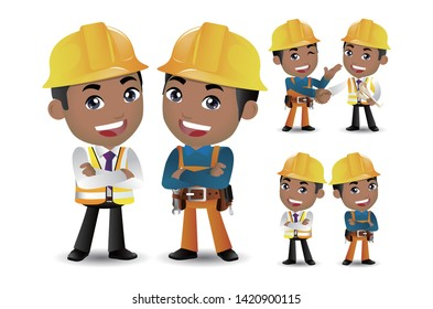 Worker together and shake hands