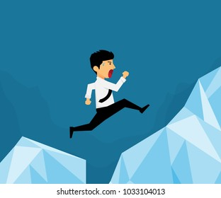Workers jump over the mountain to another mountain, He has crossed the limit of its own.