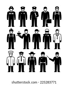 Workers professions vector figure pictogram