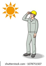 Workers with symptoms of heat stroke