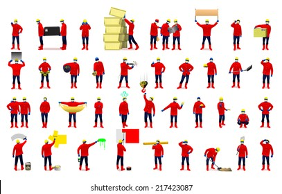 workers vector illustration