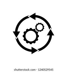 workflow icon, logo on white background