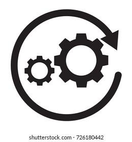 workflow icon on white background. workflow sign. flat style.
