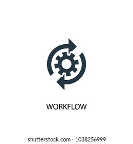 workflow icon. Simple element illustration. workflow symbol design from Project management collection. Can be used for web and mobile.