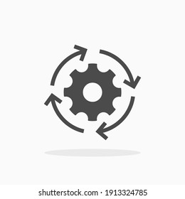 Workflow icon. For your design, logo. Vector illustration.