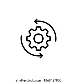 Workflow outline icon. For mobile apps and web usage. Vector EPS 10. Isolated on white background