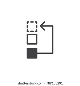Workflow or process icon vector, filled flat sign, solid pictogram isolated on white. Symbol, logo illustration.