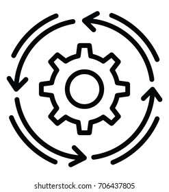 Workflow Vector Icon