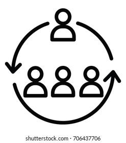 Workforce Organization Vector Icon