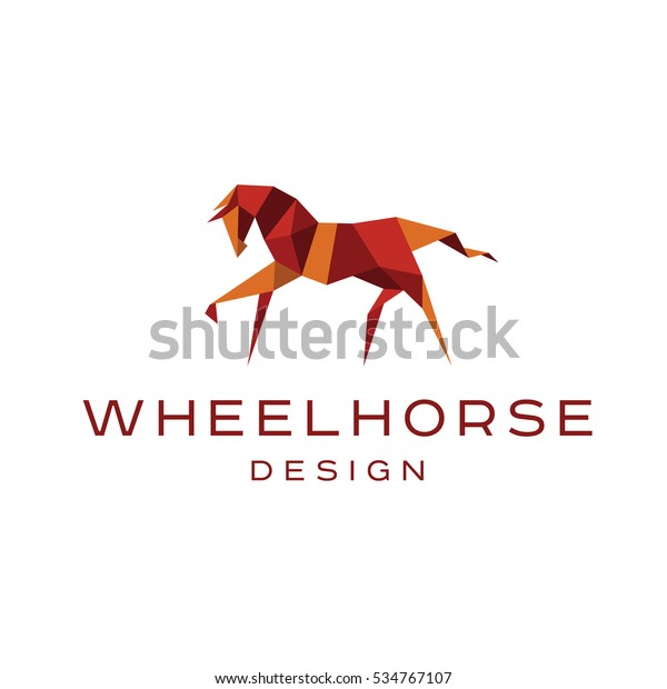 Workhorse Logo Illustration Low Poly Vector Stock Vector