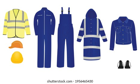 Working clothes isolated. vector illustration