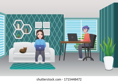 Working at home, Work from home