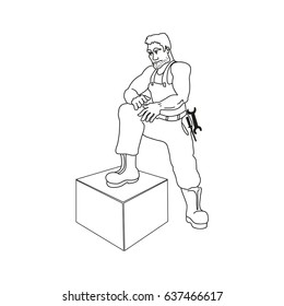 working man, outline