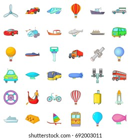Working transport icons set. Cartoon style of 36 working transport vector icons for web isolated on white background