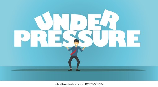 Working under pressure as a worker. Abstract background. Vector illustration.