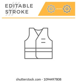 Working vest line icon