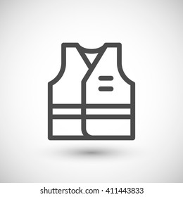Working vest line icon