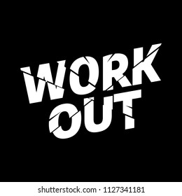 Workout Athletic sport typography, tee shirt graphics, vectors