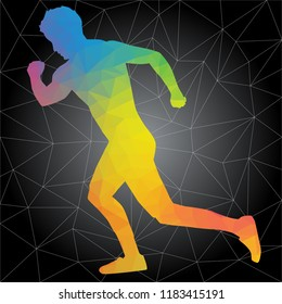 Workout concept. Vector silhouette of man doing fitness and workouts exercises. Active and healthy life concept
