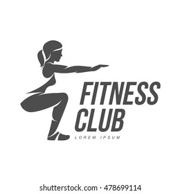 Workout  emblem and sticker. Fitness, Aerobic and workout exercise in gym. Vector set of workout logo isolated on white background.