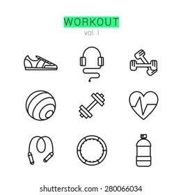 Workout-Symbole Set für Web und Anwendungen