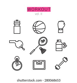 Workout Icons Set for Web and applications