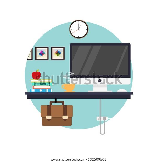 Workplace flat illustration