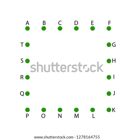 Worksheet Game Kids Learning Alphabet Connect Stock Vector (Royalty ...
