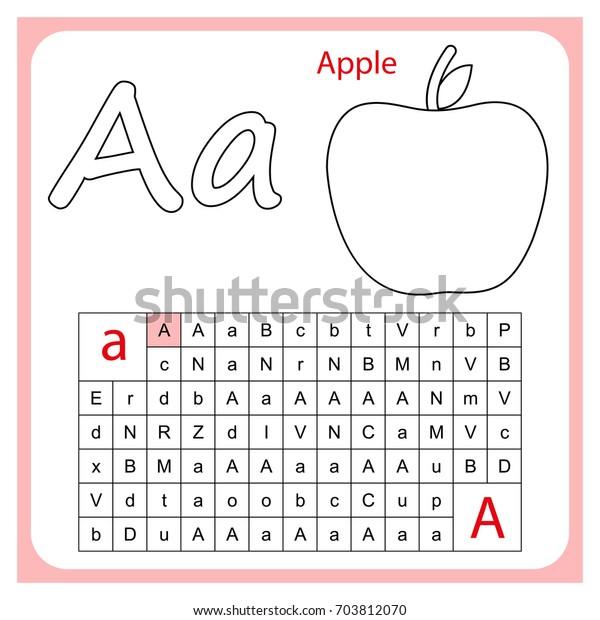 Worksheet Learning Alphabet Worksheet Preschool Children ...