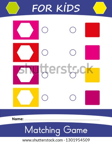 Worksheet Matching Game Kids Learning Colors Stock Vector (Royalty ...