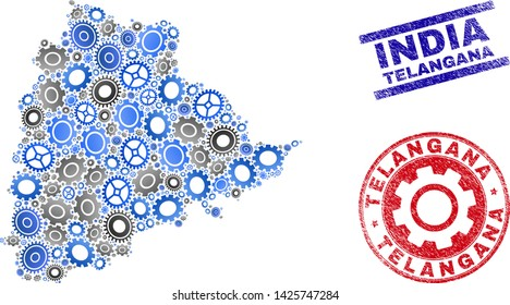 Telangana Map Images, Stock Photos & Vectors | Shutterstock