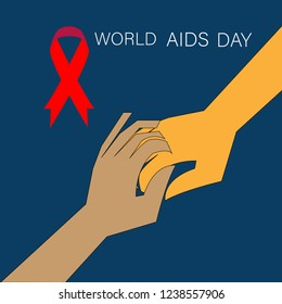 world aids day 1st december illustration vector image