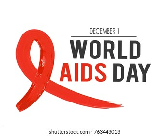 World AIDS Day. 1st December World Aids Day banner. Vector illustration
