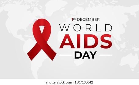 World AIDS Day Banner Background Illustration