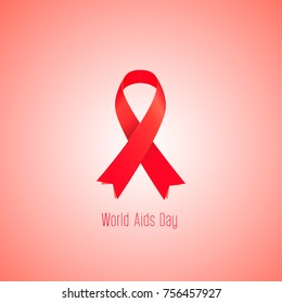 World AIDS day in December 1 Vector illustration