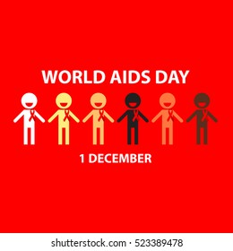 World aids day design illustration campaign for use in other media.