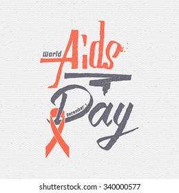 World Aids Day insignia  and labels It can be used to design websites magazines, infographics, advertising