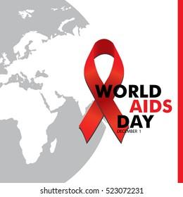 world aids day. Vector illustration design.background.world map