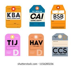 world airports baggage tag