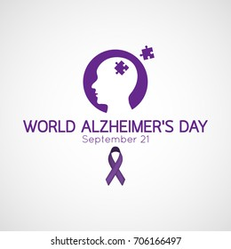 World Alzheimer's Day vector icon illustration