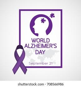 World Alzheimers Day vector icon illustration