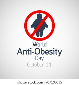 World Anti Obesity Day vector icon illustration