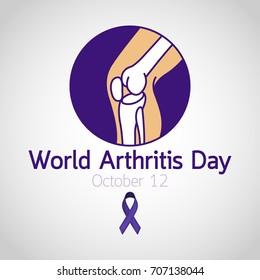 World Arthritis Day vector icon illustration