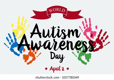 World Autism Awareness Day Card or Background. vector illustration
