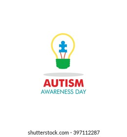 World autism awareness day logo design template. Vector illustration. colorful puzzles symbol.