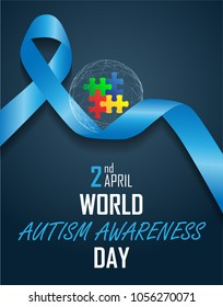 world autism awareness day on April 2 background